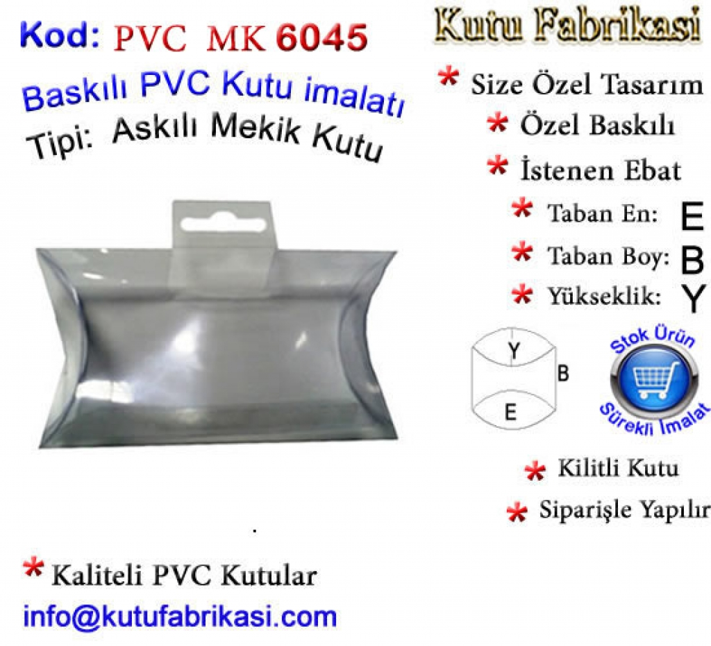 Elips PVC Kutu imalatı 6045 Matbaa Baskı İmalat Matbaacı