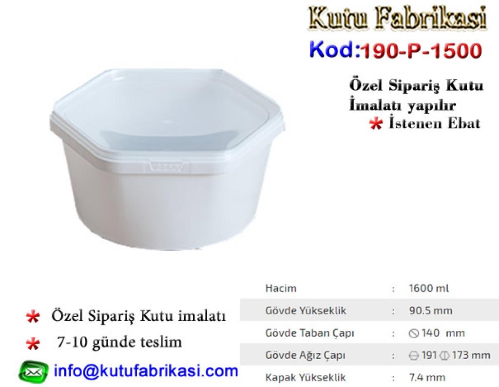 Altıgen Plastik kap-1600 ml C90*H140 107-1500 Matbaa Baskı İmalat Matbaacı
