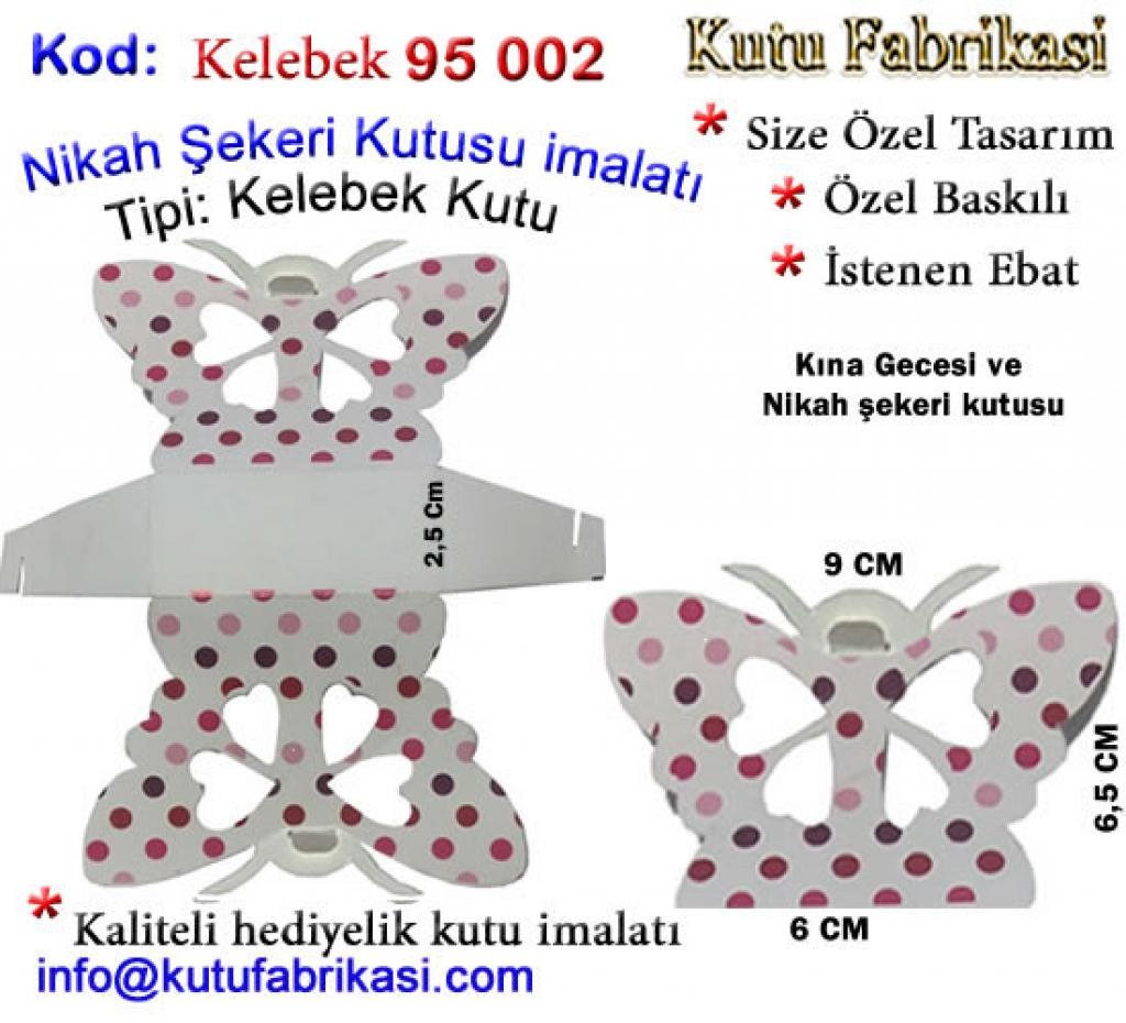 Kelebek Nikah şekeri kutusu 95002 Matbaa Baskı İmalat Matbaacı