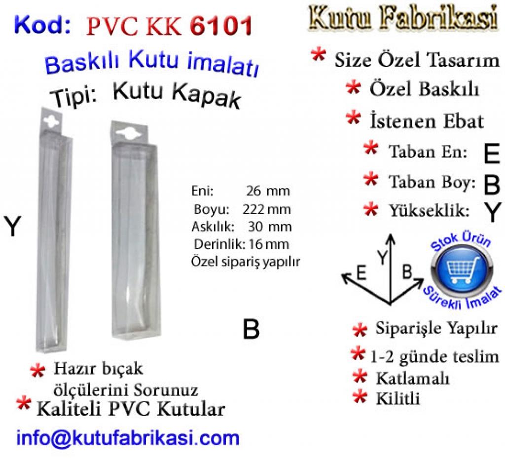 Hazır Askılı PVC PVC kutu 6101 Matbaa Baskı İmalat Matbaacı