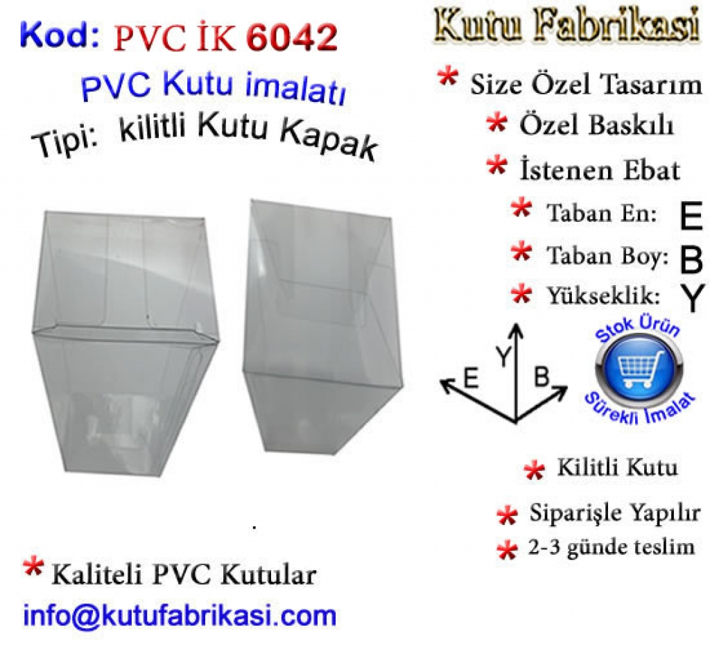 Şeffaf PVC Kutu imalatı 6042 Matbaa Baskı İmalat Matbaacı