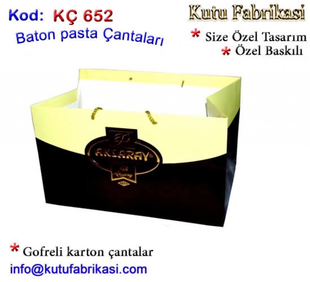 Baton Pasta Karton Çantalı kutusu 652 Kutucu Kutu İmalatı Toptan Kutu