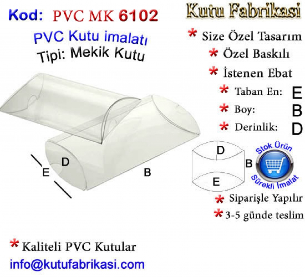 Elips PVC Kutu imalatı 6102 Kutucu Kutu İmalatı Toptan Kutu