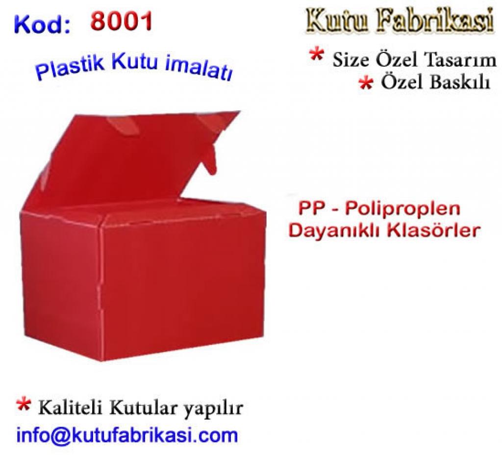 PP Kutu İmalatı 8001 Matbaa Baskı İmalat Matbaacı