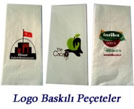 Логотип запечатленный салфетку